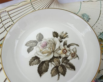 Royal Worcester Rose and Narcissus Pin Dish