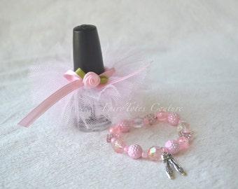 Ballet Bracelet & Nail Polish Tutu Gift Set - Ballerina Favor