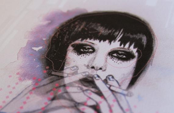 SALE! Alice Glass Smoking -  A4 Print
