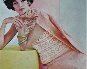 Vogue Knitting Book No 61 1962 UK vintage 1960s knitting patterns women's sweaters dresses cardigans 60s original patterns