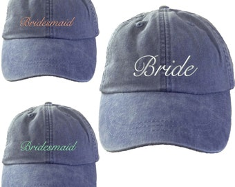 4 Bridal Party Hat. Womens Bridal Party Caps. Cool Mesh Lining & Adjustable Strap. Bridesmaid Hats.33 Colors Avail.Bridal Party.HER-LP101