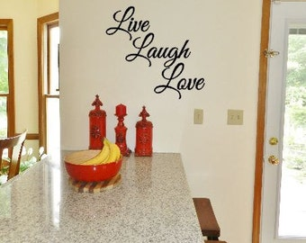 Live Laugh Love Vinyl Decal   Live Laugh Love Living Room Decal   Wall  Decal