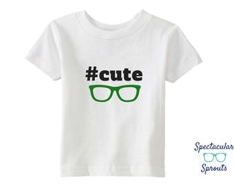 Hashtag Glasses Shirt |  Cute Handsome Kids Glasses Tshirt | Hipster Glasses Clothing Baby | Personalized Kids Clothing