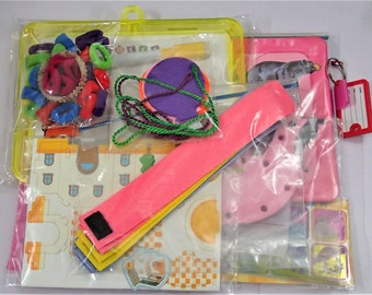 8 Activities Busy Bag For Toddler - Set E