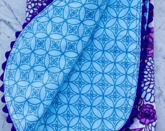 Best Swaddling Blanket - Baby Blanket - Flannel Blanket - Purple and Blue