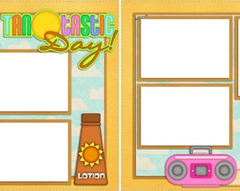 Tantastic - Digital Scrapbooking Quick Pages - INSTANT DOWNLOAD