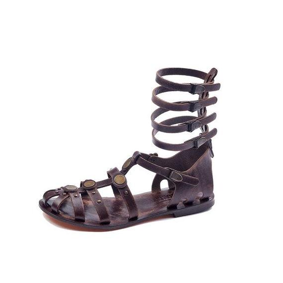 610 Gladiator Handmade Handmade Handmade 610 Sandals Leather Sandals Gladiator Leather EnHvqxB6x