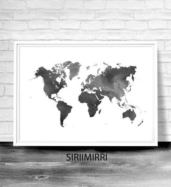 World map poster water color world map world map print te gusta este artculo gumiabroncs Choice Image