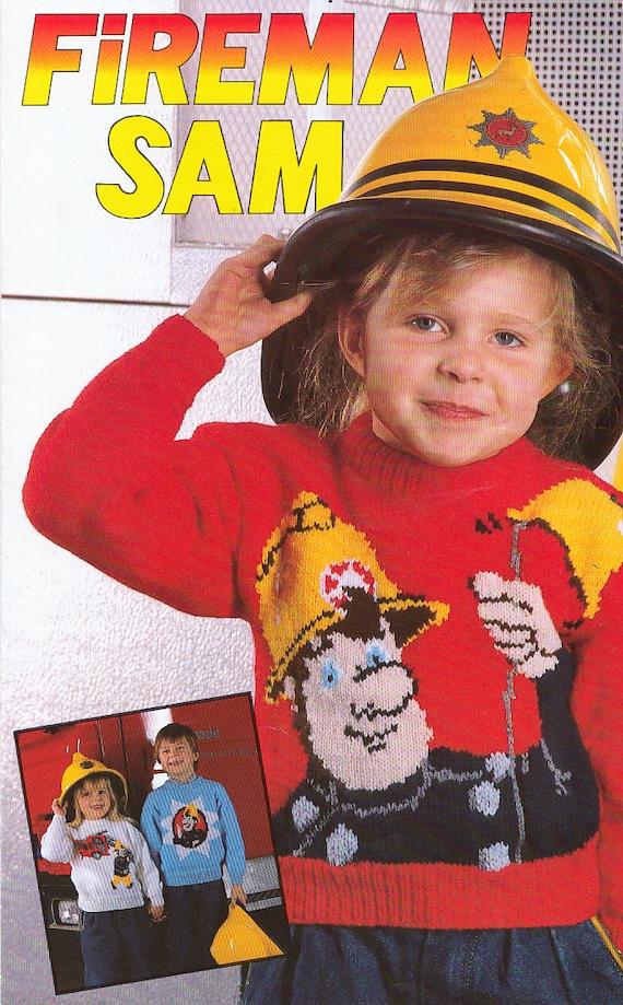 Fireman Sam Vintage Knitting Patterns For Childrens Character