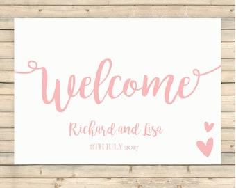Wedding Welcome Sign, Wedding Stationery