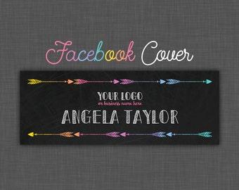 Facebook Cover, Facebook Banner, Black Facebook Cover, Chalkboard Facebook