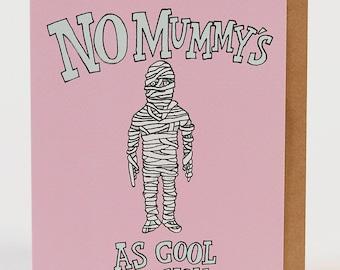 Mum birthday card, mom birthday card, Mother's Day card, funny Mother's Day card, thank you mum card, Mum card, 'Mummy Cool' Wally Paper Co
