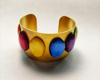 Infinity Stone INSPIRED cuff bracelet
