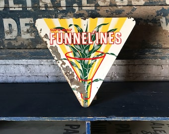 Vintage Sup'R-Maize Funnelines Sign Seed Corn Feed Rustic County Farmhouse Decor