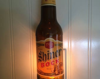 Shiner Bock Beer Bottle Nightlight