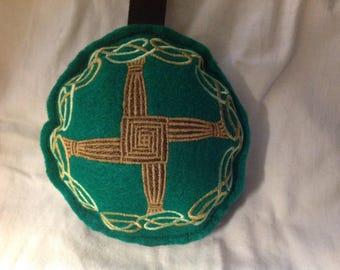 Embroidered Brigid's Cross Stuffie, Ornament