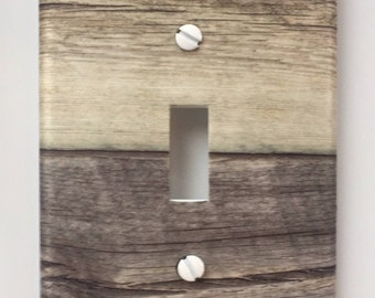 Rustic wood light switch plate cover // raw old gray brown image 83 // SAME DAY SHIPPING**