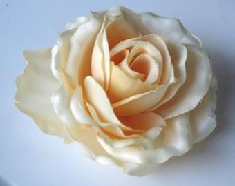 Bridal Flower Hair Clip Wedding Hair Clip  Wedding Accessory Rose Bridal Hair Clip