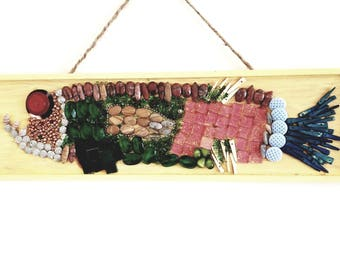 Fish Mosaic on Wood