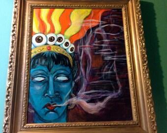 Smoking Sheva Painting MOVING SALE!