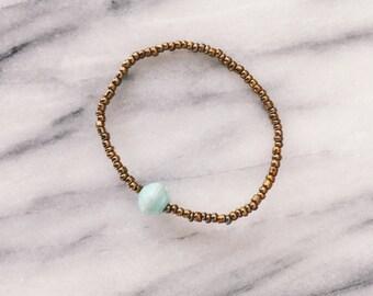 Mint Single Bead Bracelet