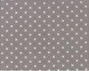 """108"""" Wide Backing - Nest - Birdy Hop in Pebble by Lella Boutique for Moda 11143 17"""