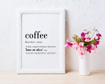 Coffee Printable Coffee Quotes Coffee Lovers Gift Coffee