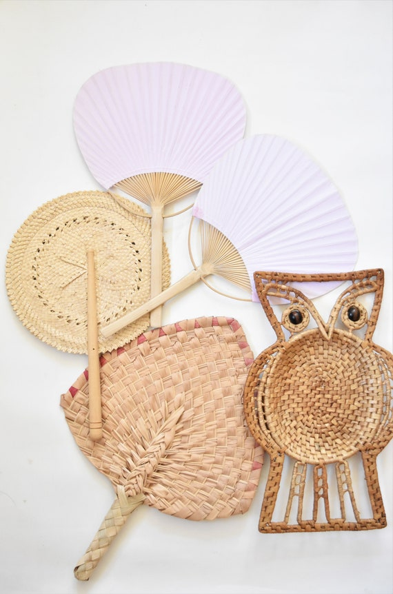 vintage woven straw owl with beaded eyes / wall hanging macrame bird