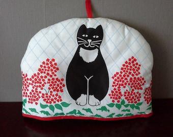 black cat tea cosy unused