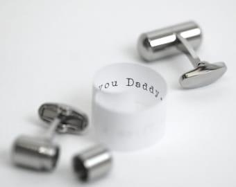Personalised Secret Message Cufflinks