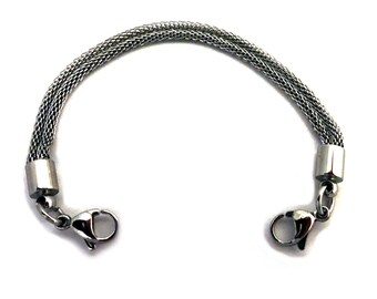 Medical ID Stainless Steel Double Mesh Interchangeable Bracelet