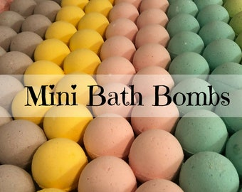 Mini Bulk Bath Bombs, 1 oz each! Wholesale Bath Bomb Discount, Bath Bomb Party Favors, Thank you Gifts, Wedding, Baby Shower, Bridal Gift
