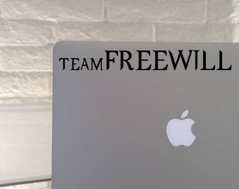 Team FREEWILL vinyl decal - Choice of colors and sizes - Car decal, Laptop sticker, supernatural, SPN
