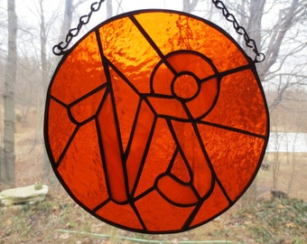 Zodiac Capricorn Stained Glass Suncatcher