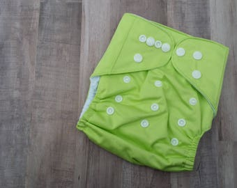 Green Pocket Cloth Diaper Set