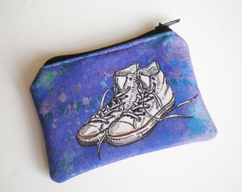 Coin purse, Small zipper pouch, Sneakers coin purse, Card wallet, Sneakers shoes, Gift idea