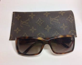 Louis Vuitton Sunglasses Case, Vuitton Readers Case, LV Upcycled, Repurposed, Authentic LV Fabric, Authentic LV Canvas, Eyeglass Case