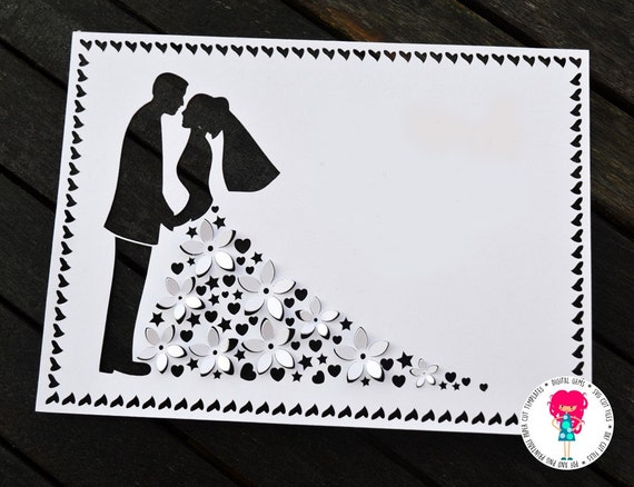 3d wedding paper cut template svg cutting file for cricut /, Presentation templates