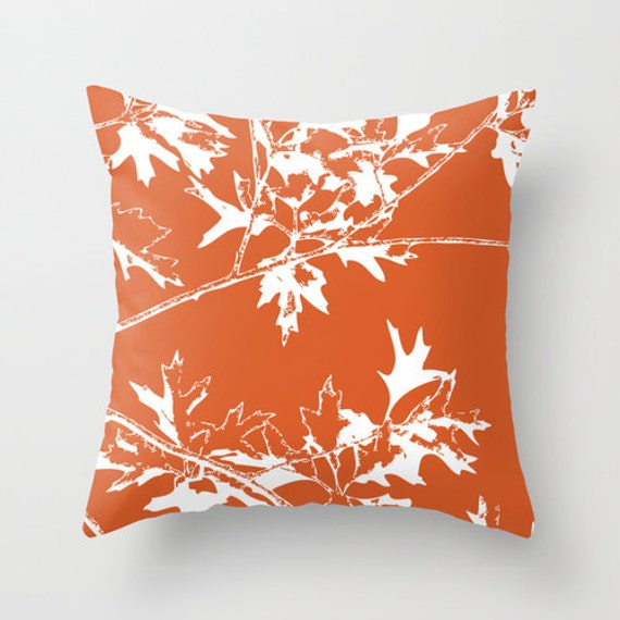 Autumn Leaves And Branches Pillow Cover Fall Decorative