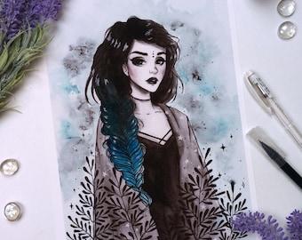 Modern witch Art print