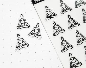 Yoga Stickers, Exercise Stickers, Fitness Stickers, Happy Planner, Erin Condren Planner Stickers, Workout Stickers, Planner Accessories