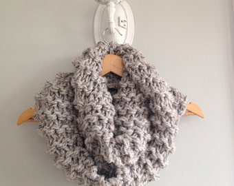 Super Bulky Infinity Scarf with matching fingerless mitts are a set MADE TO ORDER