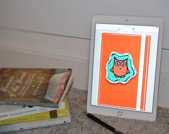 Digital Bullet Journal- Orange Owl