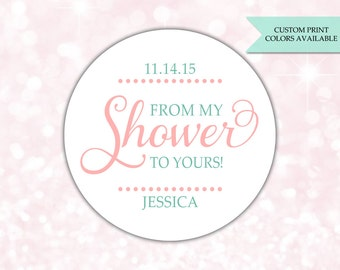 From my shower to yours stickers - Soap labels - From my shower to yours labels - Bridal shower soap favors (RW012)