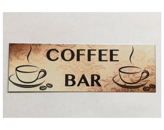 Coffee Bar Room Sign Cafe House Hanging Kitchen