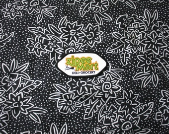 Vintage Zippe Mart Convenient Store Embroidered Patch. Retro Black White Green Collectible Patch. Vintage Worker Collectible Accessory.