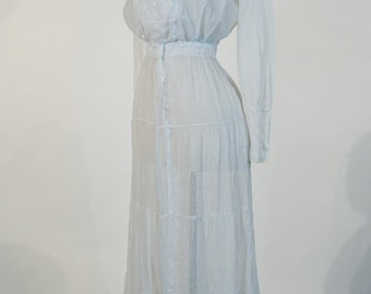White cotton WW1 period dress, c. 1916