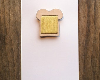 Slice of Bread with Cheese Brooch