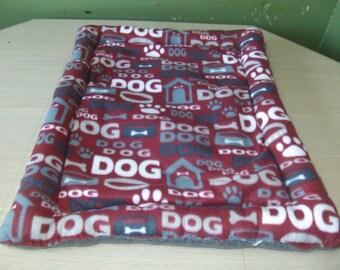 fleece dog mat, dog crate mat, pet bed, custom order, high sides pet bed, made to order