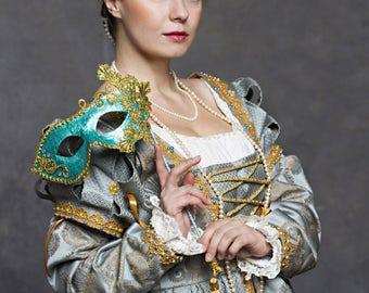 Renaissance dress early 16th century women dress Italian fashion Lucrezia Borgia style. !!!ONLY TO ORDER!!! Different colors